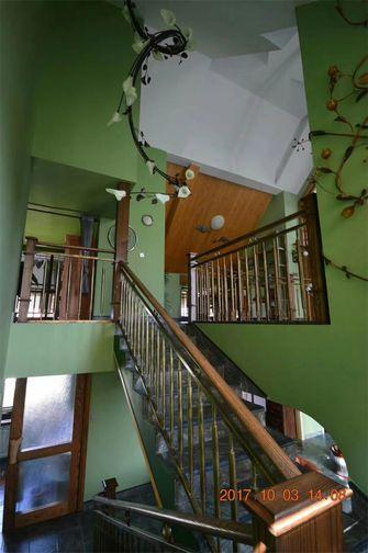 140平米复式田园风格楼梯间装修效果图
