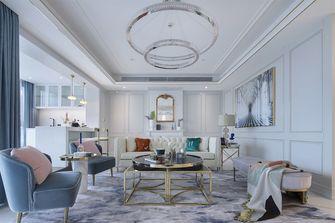 90平米三室一厅法式风格客厅装修案例