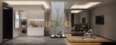 80平米一室一厅混搭风格健身室图片大全