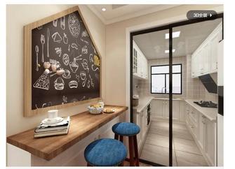 130平米三室两厅田园风格走廊装修案例
