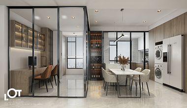 经济型140平米三室两厅现代简约风格书房图片