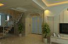 富裕型130平米三室两厅田园风格楼梯欣赏图