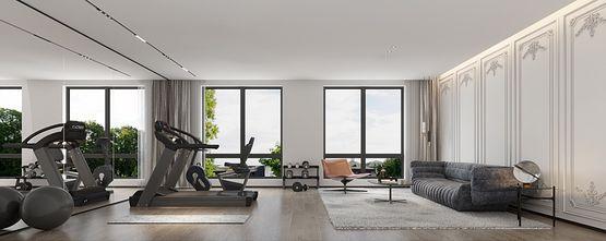 豪华型140平米别墅现代简约风格健身室装修效果图