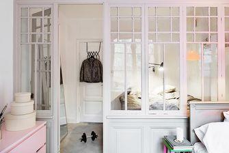 60平米一居室北欧风格卧室设计图