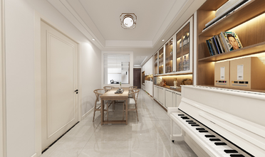 90平米三室一厅日式风格餐厅设计图