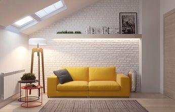 120平米三室两厅北欧风格阳光房设计图
