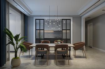 130平米四室一厅现代简约风格餐厅图