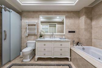 110平米三室两厅美式风格卫生间图