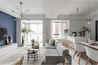 140平米四室一厅混搭风格餐厅设计图