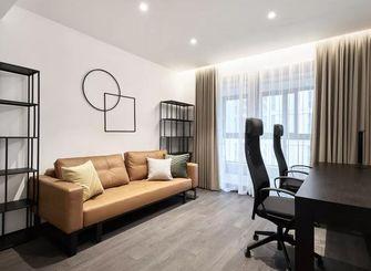 110平米三室两厅现代简约风格书房图