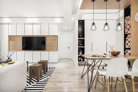 80平米三室兩廳北歐風格餐廳設計圖