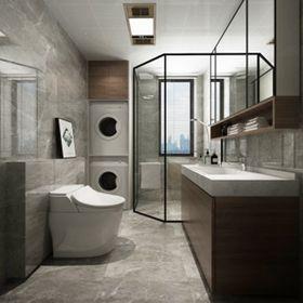 90平米三室一廳北歐風格衛生間裝修效果圖