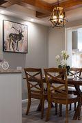 100平米三室两厅美式风格餐厅图