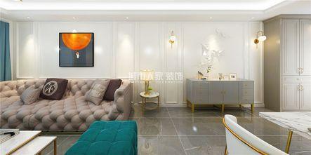 120平米三室两厅法式风格客厅欣赏图