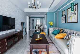 5-10万80平米三室两厅美式风格客厅装修效果图