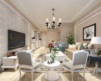 90平米三室一厅欧式风格客厅装修图片大全