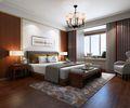 130平米四室一厅中式风格卧室效果图