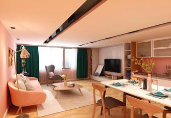 60平米一居室新古典风格客厅装修案例