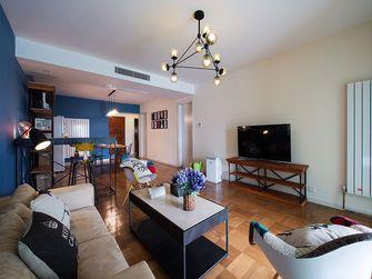 90平米三室一厅混搭风格客厅图