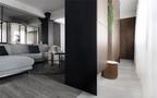 60平米一居室现代简约风格玄关图