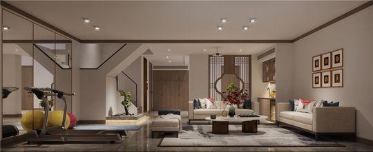 140平米四室四厅中式风格其他区域欣赏图
