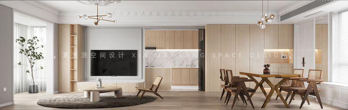 110平米三现代简约风格客厅图