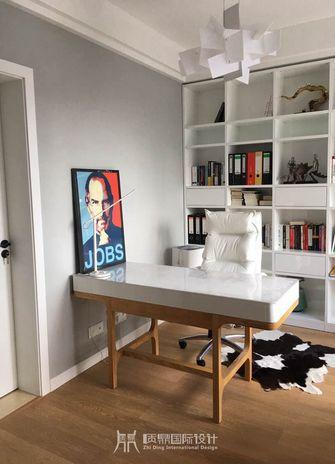 富裕型120平米复式现代简约风格书房效果图