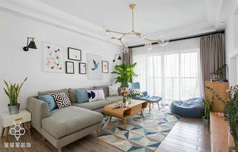 80平米三室两厅欧式风格客厅图