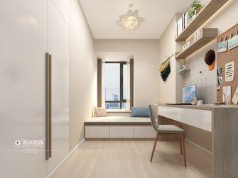 120平米三室两厅日式风格书房设计图