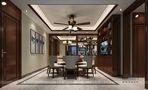 140平米四室四厅中式风格餐厅图