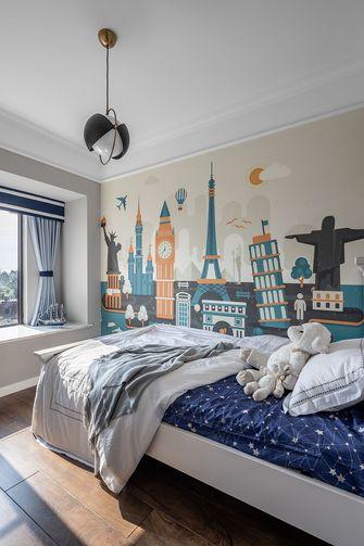 100平米三室两厅美式风格儿童房图
