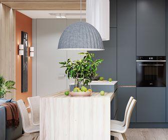 70平米一室一厅现代简约风格餐厅欣赏图