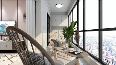 90平米三室两厅混搭风格阳台设计图