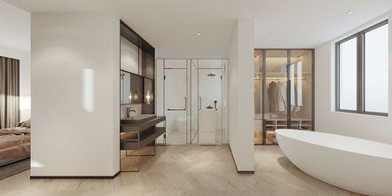 豪华型140平米复式现代简约风格卫生间图片大全