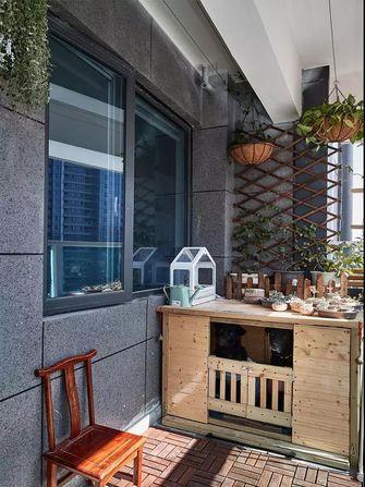120平米三现代简约风格阳台图片