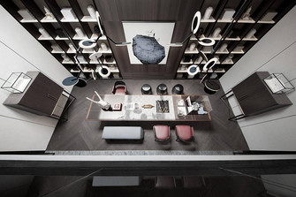 140平米复式英伦风格书房装修案例