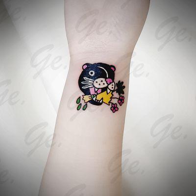 卡通黑豹 遮盖纹身款式图