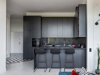 110平米一居室混搭风格餐厅装修图片大全