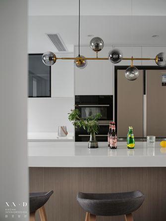 140平米三室两厅现代简约风格厨房设计图