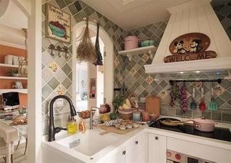 80平米三室一厅田园风格厨房图片大全