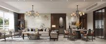 110平米四室两厅新古典风格客厅图片