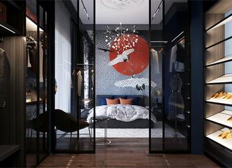 豪华型110平米三室三厅法式风格衣帽间效果图