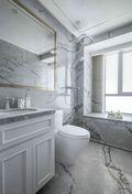 140平米三室一厅现代简约风格卫生间浴室柜装修效果图