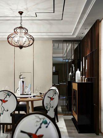 60平米三室三厅中式风格餐厅图