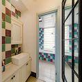 130平米三室两厅田园风格卫生间浴室柜图片