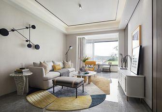 110平米三室一厅混搭风格客厅欣赏图