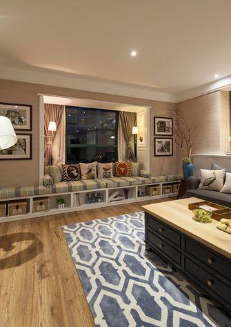 120平米三室一厅混搭风格客厅图片