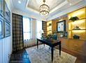 富裕型140平米四室两厅美式风格书房飘窗图片大全
