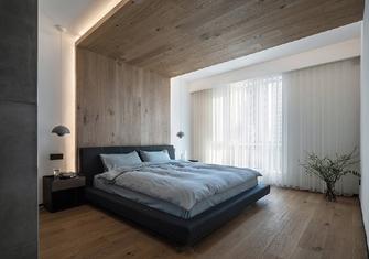 140平米三室一厅混搭风格卧室图片