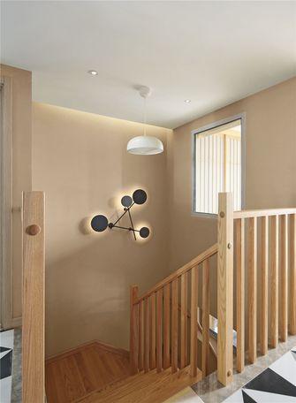 140平米三室两厅混搭风格楼梯间装修图片大全